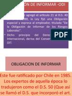 ODI- Obligación de Informar
