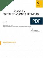 Unidad I - Sem 1 - Generalidades y Especificaciones Técnicas.pdf