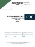 PROGRAMA DE PREVENCION DE RIESGOS 2020