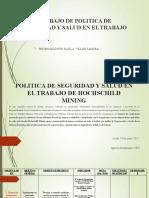 POLITICA DE SEGURIDAD Y SALUD EN EL TRANAJO