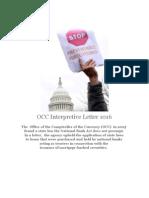 OCC Interpretive Letter No 1016 Preemption DENIED