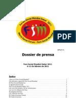 Dossier de Prensa Foro Social Mundial Dakar 2011