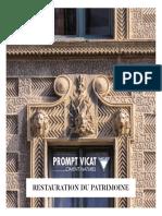 Ciment naturel Prompt Vicat - Plaquette patrimoine_0