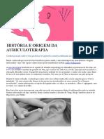 HISTÓRIA E ORIGEM DA AURICULOTERAPIA