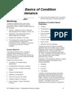 4. 1 - Basics of Condition Based Maintenance
