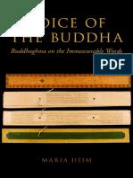 Voice of the Buddha.Buddhaghosa on the Immeasurable Words.Heim