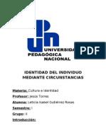 IDENTIDAD DEL INDIVIDUO MEDIANTE CIRCUNSTANCIAS