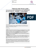 Sul Journal of Internal Medicine l'efficacia del Tocilizumab - centropagina.it, 7 gennaio 2021