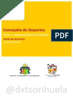 Carta de Servicio Concejalía de Deportes de Orihuela 20-23