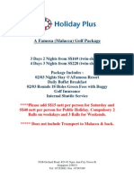 Holiday Plus A Famosa Golf Package