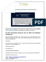 Photoshop Shortcuts Key for Professional