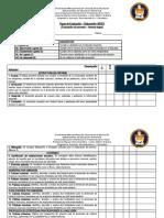 Pauta de Evaluación - Informe INDEX