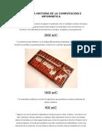 HISTORIA DE COMPUTACIÓN