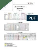 ESP Calendário Escolar 2020-21