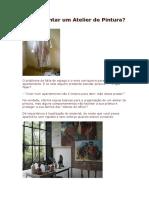 Como montar um Atelier de Pintura