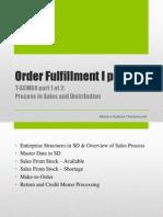 Review - Order Fulfillment I - TSCM60