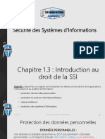 Chapitre 1.3  Introduction au droit de la SSI