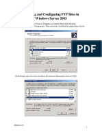 Creating and Configuring FTP Sites in Windows Server 2003
