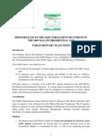 Malawi Presidential Elections 2009 SADC response