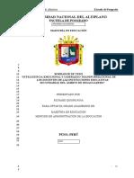 INTELIGENCIA EMOCIONAL Y LIDERAZGO TRANSFORMACIONAL DE LOS DOCENTES DE LAS INSTITUCIONES EDUCATIVAS SECUNDARIAS DEL ÁMBITO DE DESAGUADERO