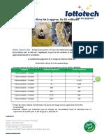 Communiqué de Presse Du 10e Tirage de La Loterie Vert-8 Janvier 2021