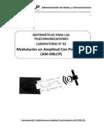 Laboratorio 02 - Modulación en Amplitud Con Portadora (AM-DBLCP)