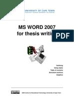 CET MS Advanced Word 2007 Training Manual v1.0
