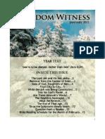 2011 January Kingdom Witness
