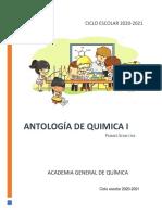 ANTOLOGÍA DE QUIMICA I 2020 1a ED