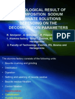 Technological result of decomposition sodium aluminate solution