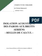 Isolation acoustique des parois aux bruits aériens – Règles de calcul- DTR C3.1.1.pdf
