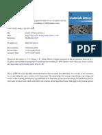Effects of aging treatment on the precipitation behavior of ε-Cu