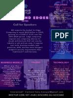 Edges and Things Edge Computing Series - IoT Hub Meetup Call for Speakers