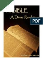 Bible a Divine Revelation