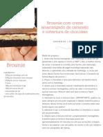 Receita de Brownie com cobertura amanteigada