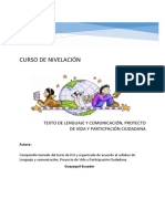 TEXTO DE LENGUAJE, PROYECTO DE VIDA