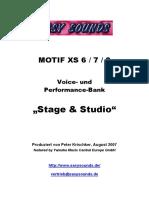 MOTIF XS_Stage&Studio D