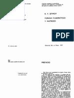 Efimov N V - Formas Cuadraticas Y Matrices Ed Mir 1970