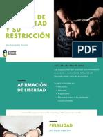 RÉGIMEN DE LA LIBERTAD Y SU RESTRICCIÓN