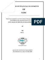 analysis of financial statement of ntpc