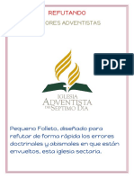 REFUTANDO ERRORES ADVENTISTAS
