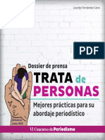 Dossier de prensa sobre trata de personas 2019