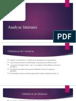 Analyse littéraire