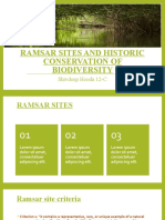 RAMSAR SITES AND HISTORIC CONSERVATION OF BIODIVERSITY