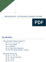 Macro Economics Concepts