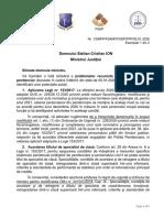 Adresa Comuna Sindicate Semnalare Probleme Penitenciare - catre Domnul Ministru Stelian ION