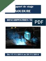 Rapport de stage SOUDURE. DESCARPENTRIES Thomas.pdf