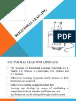 Behavioral learnning PBL