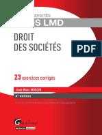 (EXOS LMD) Jean-Marc MOULIN - Droit des sociétés 23 exercices corrigés-Gualino (2014).pdf