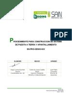 CONSTRUCCION DE SISTEMA DE PUESTA A TIERRA